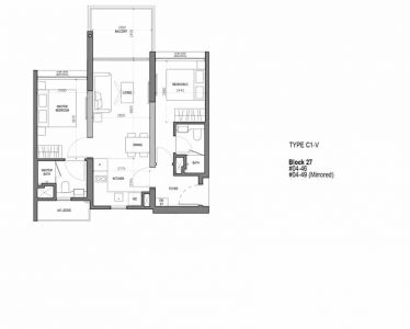 the-woodleigh-residences-floor-plan-2-bedroom-flexi-type-c1v