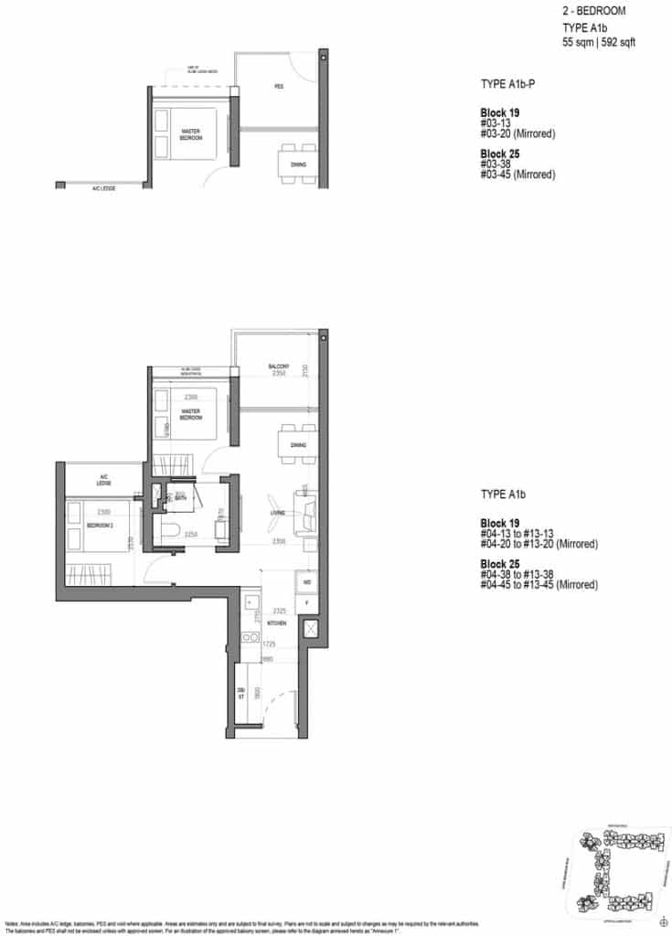 The Woodleigh Residences Floor Plan Show Flat 6100 7757