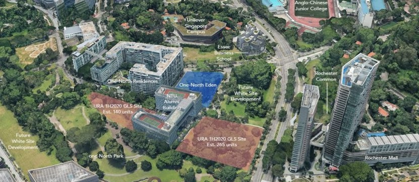 The Buona Vista condo site is located in a 'live-work-play' neighbourhood. (Click/tap then zoom in to enlarge) Source: Google