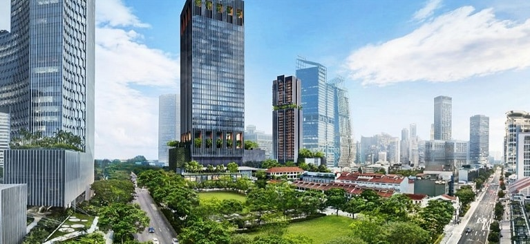 Guoco Midtown Gardens will consist of 30 thematic gardens and landscaped spaces spanning 3.8 hectare. Ten of the gardens will be made publicly accessible.